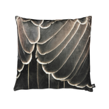 Printed Feather Brown Pattern Decorative Pillow