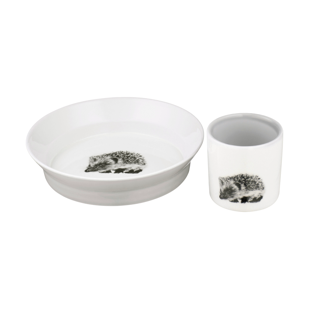 Kids Cup and Bowl Set, Soft Grey