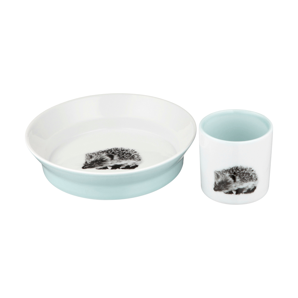 Kids Cup and Bowl Set, Soft Blue