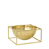 Kubus Bowl Centerpiece Large, Brass