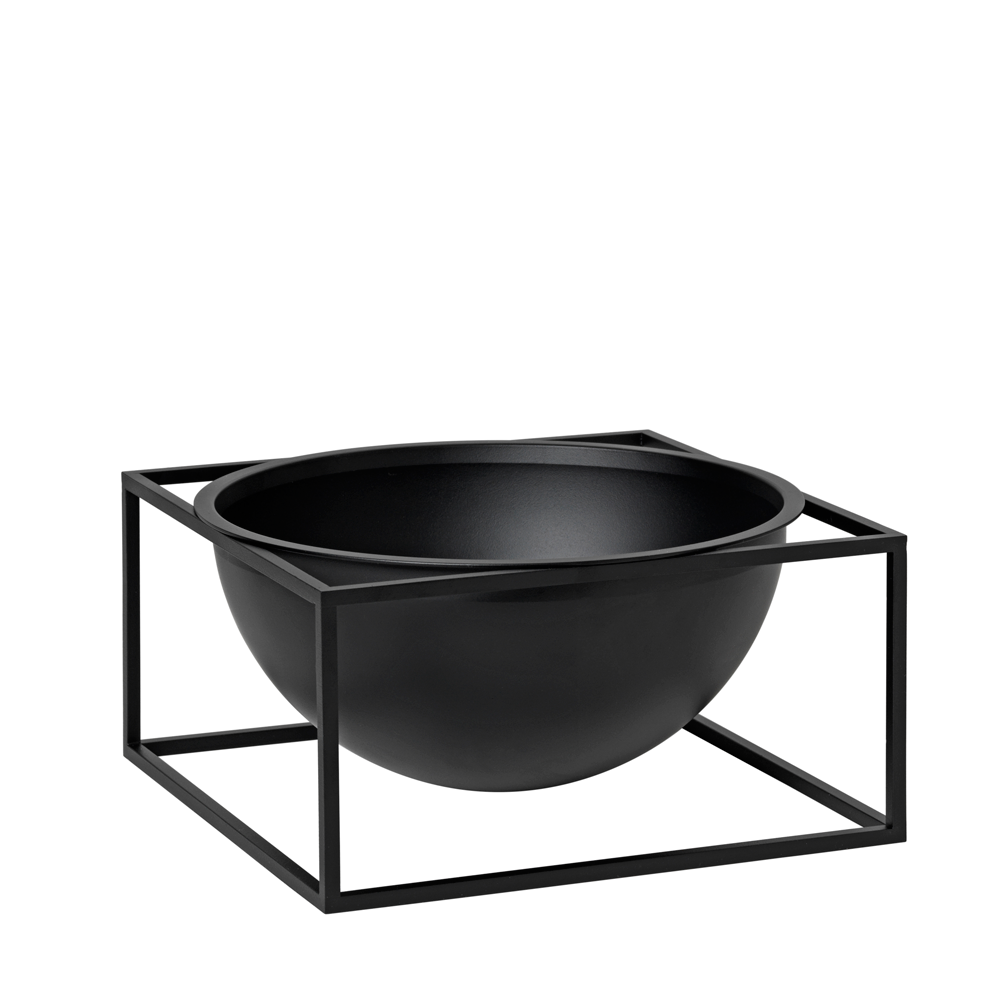 Kubus Bowl Centerpiece Large, Black