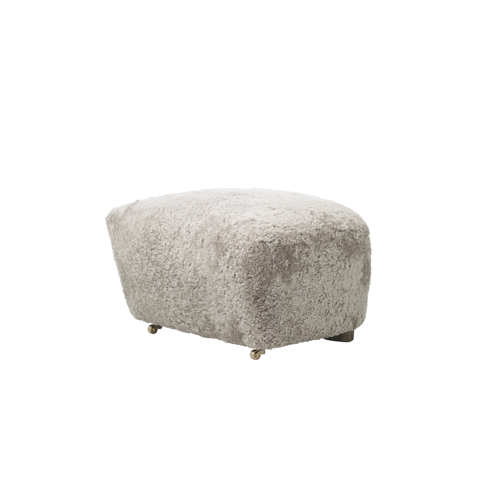 Tired Man Footstool, Sheepskin