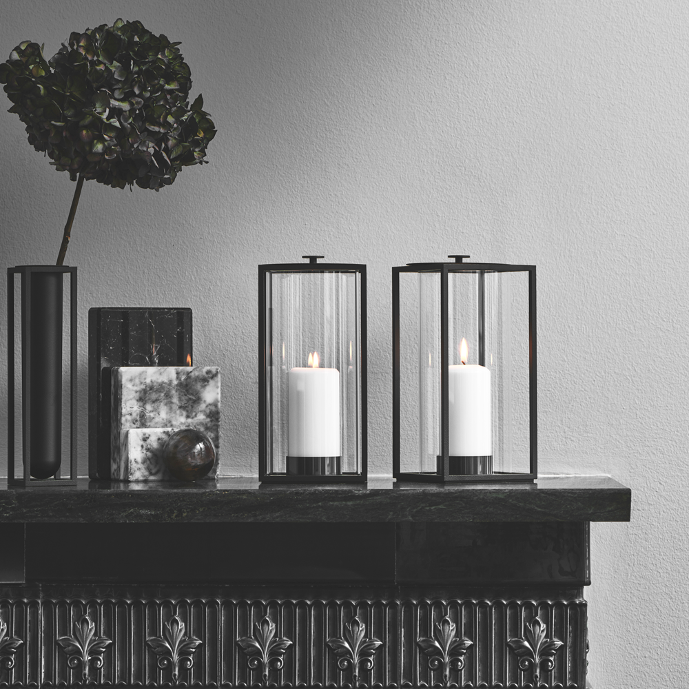Light'In Hurricane Lamp for Indoor or Outdoor Use, Two Candles Included