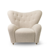 Tired Man Overstuffed Chair, NEW TEXTURED WOOL FABRIC