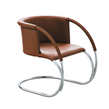 ML33 Leather Chair, Brown/FREE SHIPPING