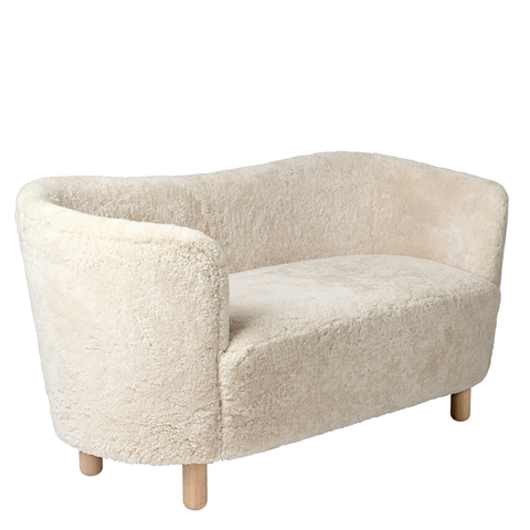 Mingle Compact Sofa in Sheepskin