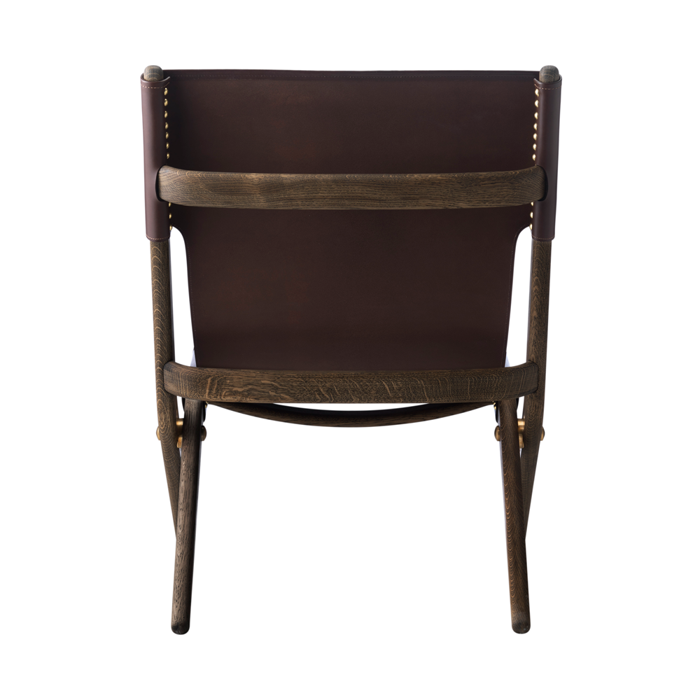 Saxe Leather Lounge Chair, Brown Oak/Brown/FREE SHIPPING