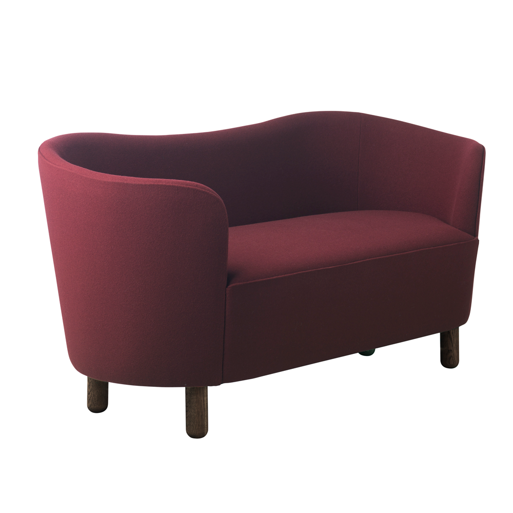Beautiful Mingle Compact Sofa NEW In Burgundy U0027 ...