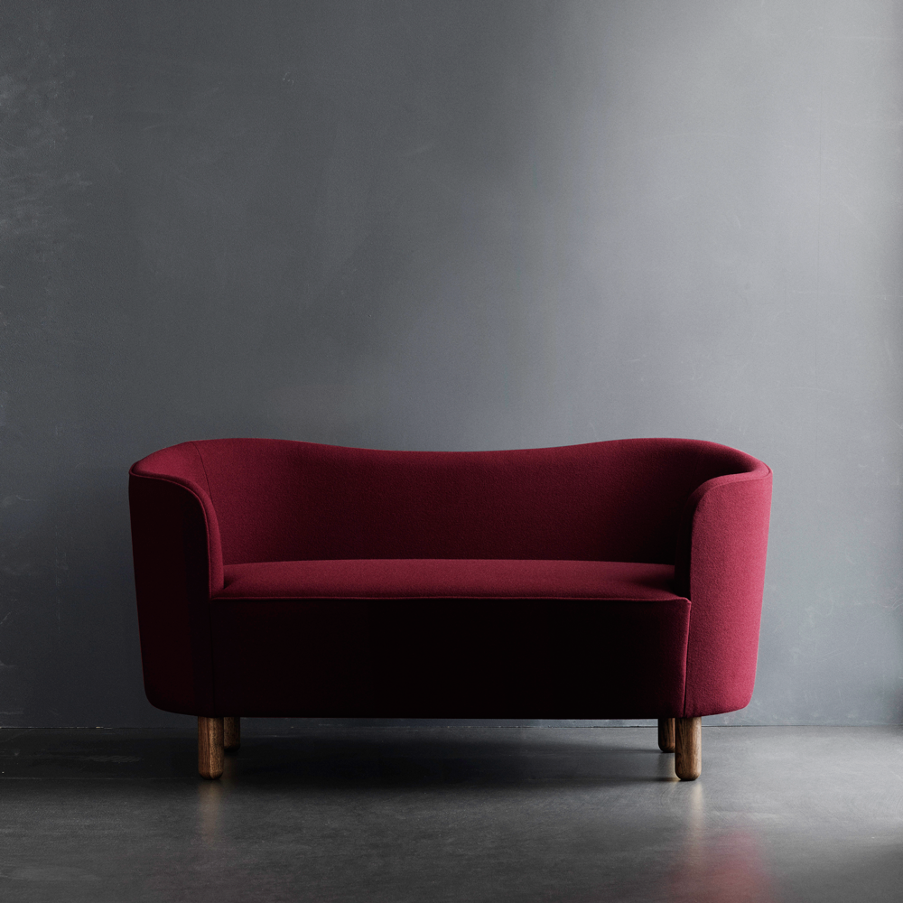 Mingle Compact Sofa in Burgundy 'Tonus-4'