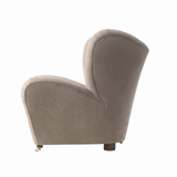 Tired Man Overstuffed Chair, Nubuck Leather