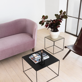 Mingle Compact Sofa in velour fabric 'Jazz', Violet or Grey
