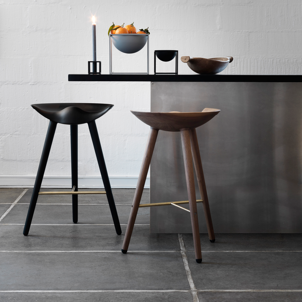 3 x Sample ML42 Counter Stools in Black & Steel