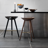 Sample ML42 Counter Stools in Dark Oiled Oak & Steel