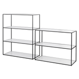 Twin Book Case Large, Black Frame/FREE SHIPPING