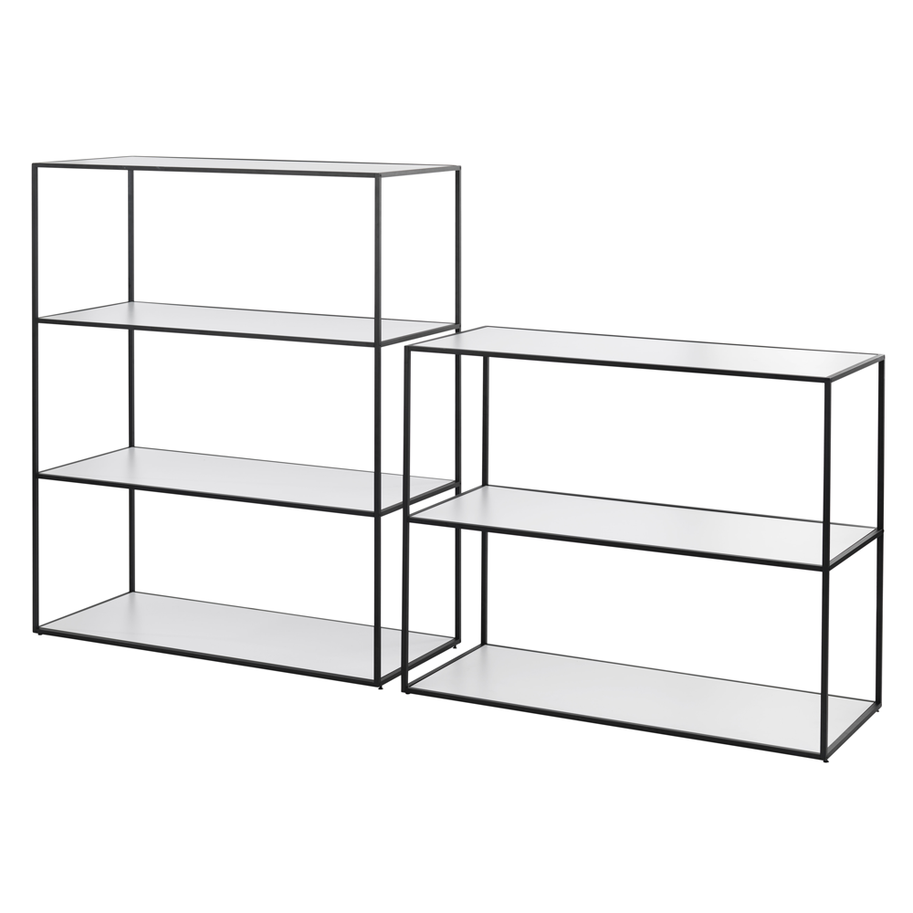 Twin Book Case Small, Black Frame/FREE SHIPPING