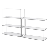 Twin Book Case Small, Cool Grey Frame/FREE SHIPPING