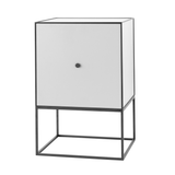 Frame Sideboard with Shelf, Light Grey/FREE SHIPPING
