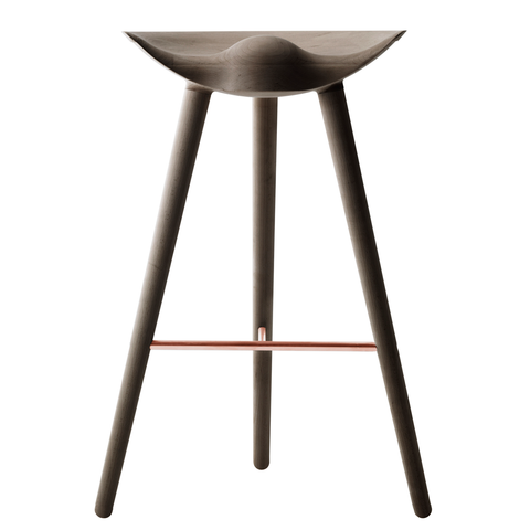 1 x Sample ML42 Bar Stool in Dark Oiled Oak & Copper