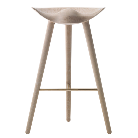 1 x Sample ML42 Bar Stool in Oak & Brass
