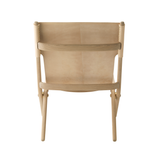 Saxe Leather Lounge Chair, Oak/Natural FREE SHIPPING