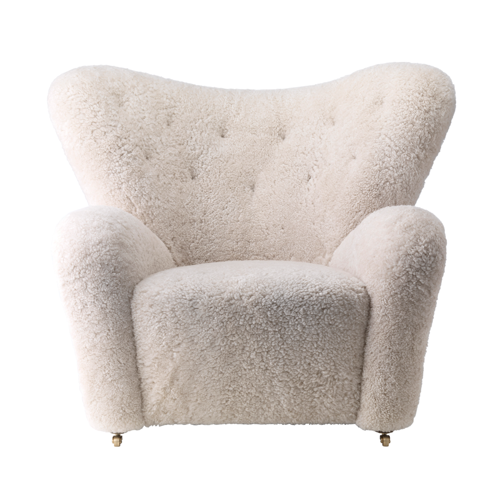 Tired Man Overstuffed Chair, Sheepskin ...