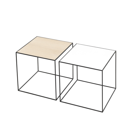 "Twin Very Versatile Table 13.8"" x 13.8"" [35 x 35 cm] 4 COLOR COMBOS"