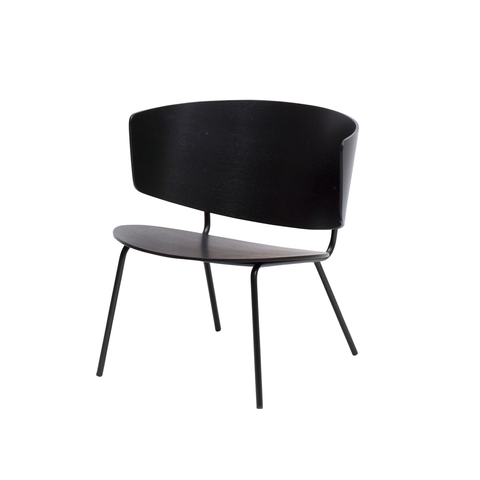 Herman Lounge Chair, Black, FREE SHIPPING