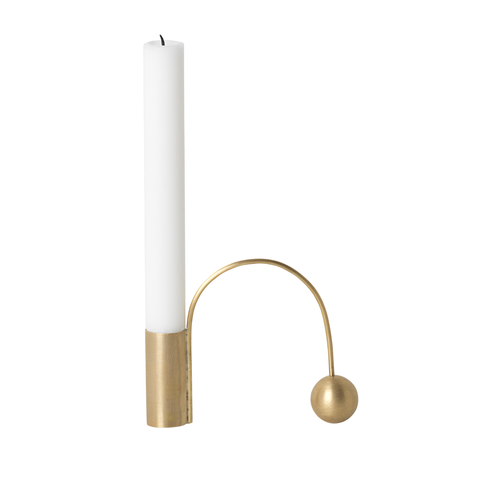 Balance Candle Holder, Brass