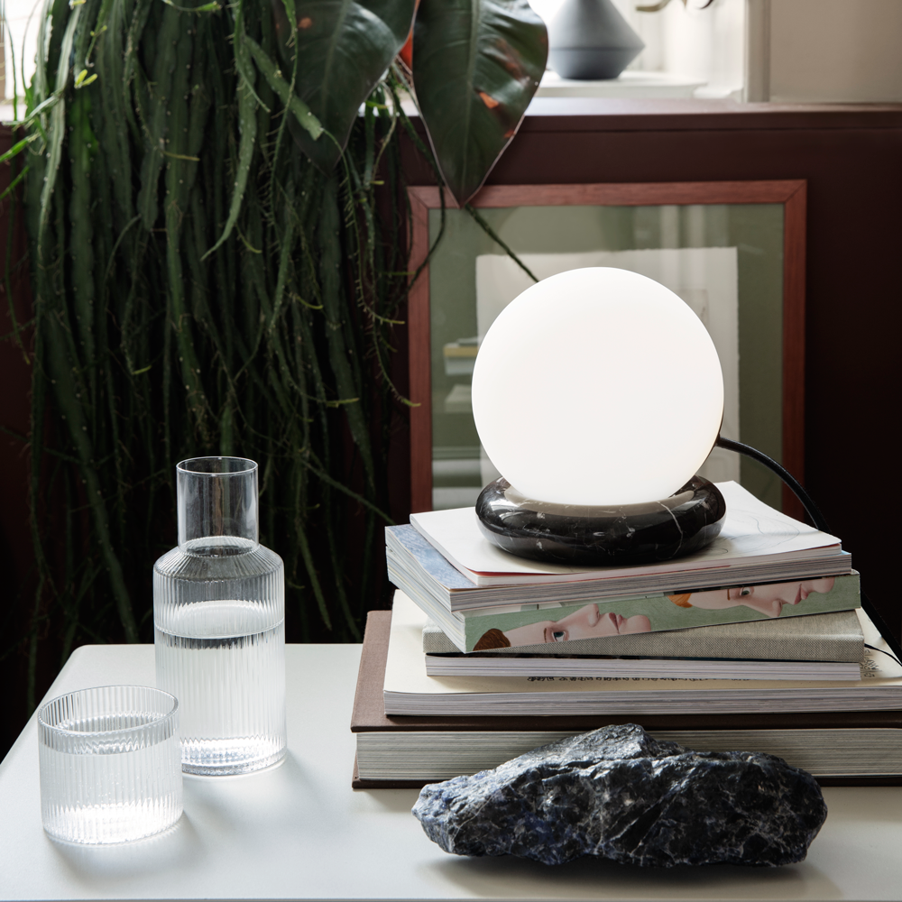 Rest Lamp - Matte Sphere/Black Marble