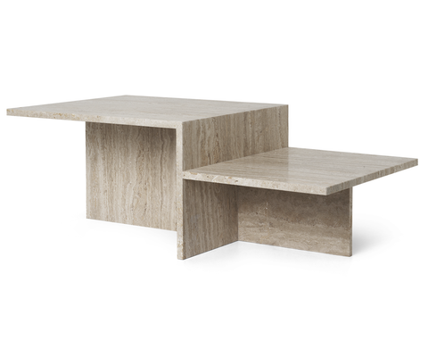 Distinct Coffee Table, Travertine/FREE SHIPPING