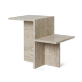 Distinct Side Table, Travertine/FREE SHIPPING