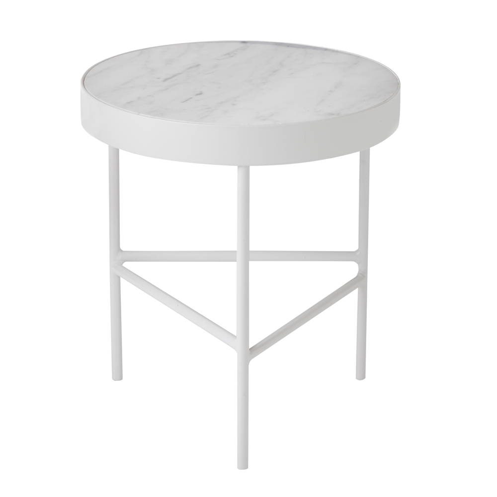 White Marble Accent Table/FREE SHIPPING