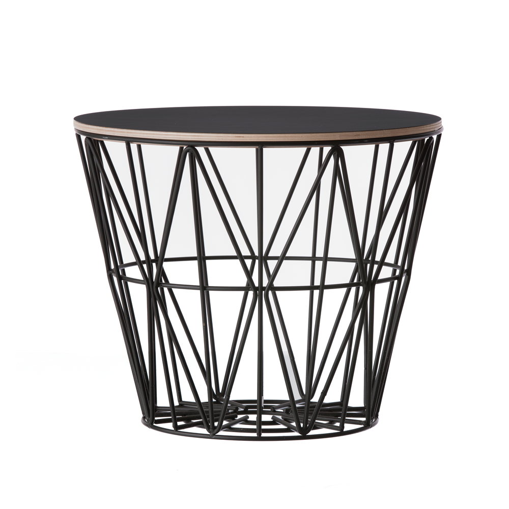 Wire Basket Top, Black, 3 Sizes