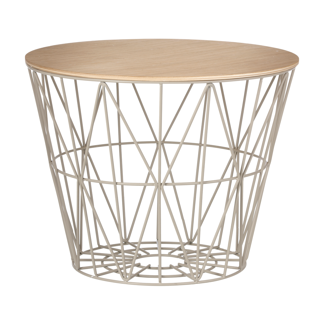 Wire Basket Top, Oiled Oak, 3 Sizes