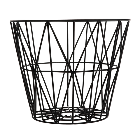 Multipurpose Wire Basket, Black, 3 Sizes