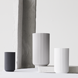 The Lyngby Vase in Matte Light Grey, 3 Sizes