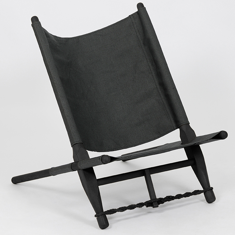 Portable Lounge Chair in Black, use Inside or Outside/FREE SHIPPING