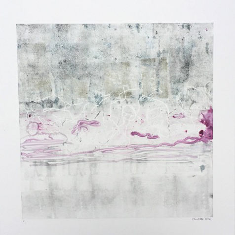Charlotte Sabbagh  -  'Purple Ghost' Monotype Print