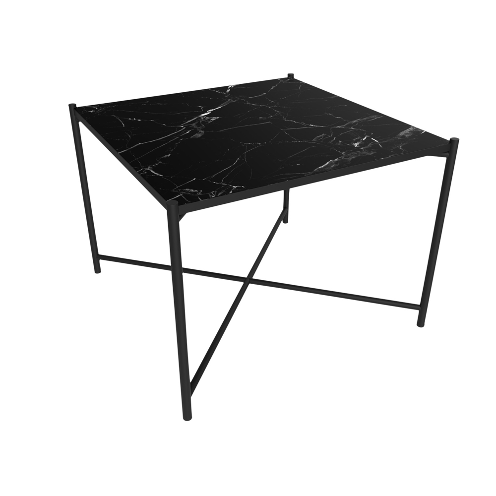coffee table 60, black marble/free shipping | kontrast | danish