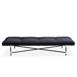 Daybed Black/Brass/Grey Velvet/FREE SHIPPING