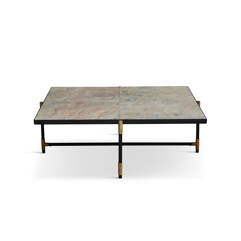 Coffee Table 90, Colombe d'Or Marble/Brass/FREE SHIPPING
