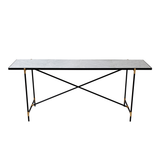 Console, White Marble & Brass/FREE SHIPPING