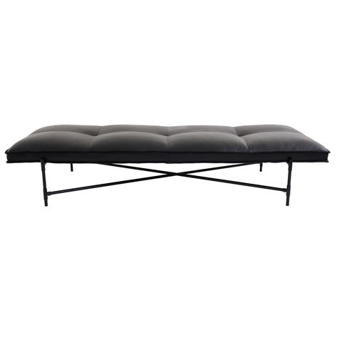 Daybed Black/Black Leather/FREE SHIPPING