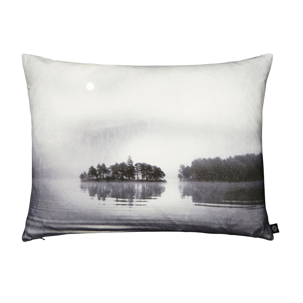Lake in Mist Decorative Pillow