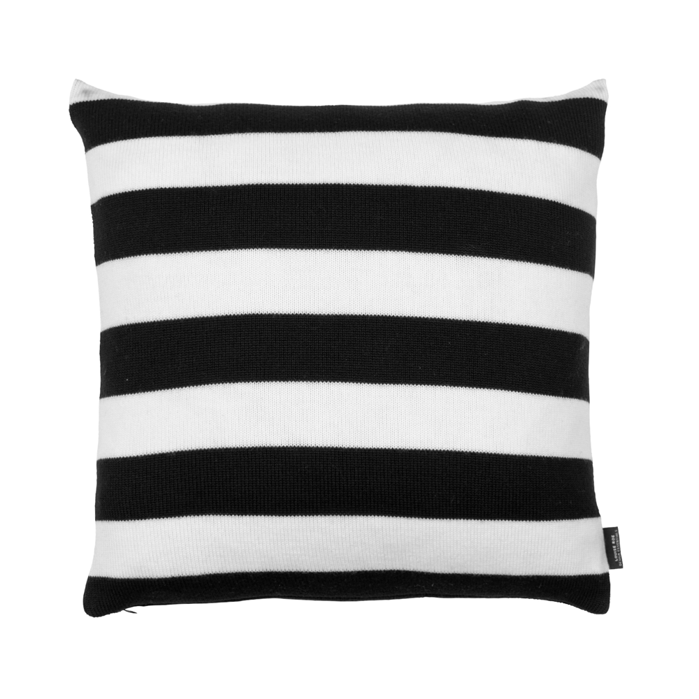 B/W Stripes Cashwool Decorative Pillow