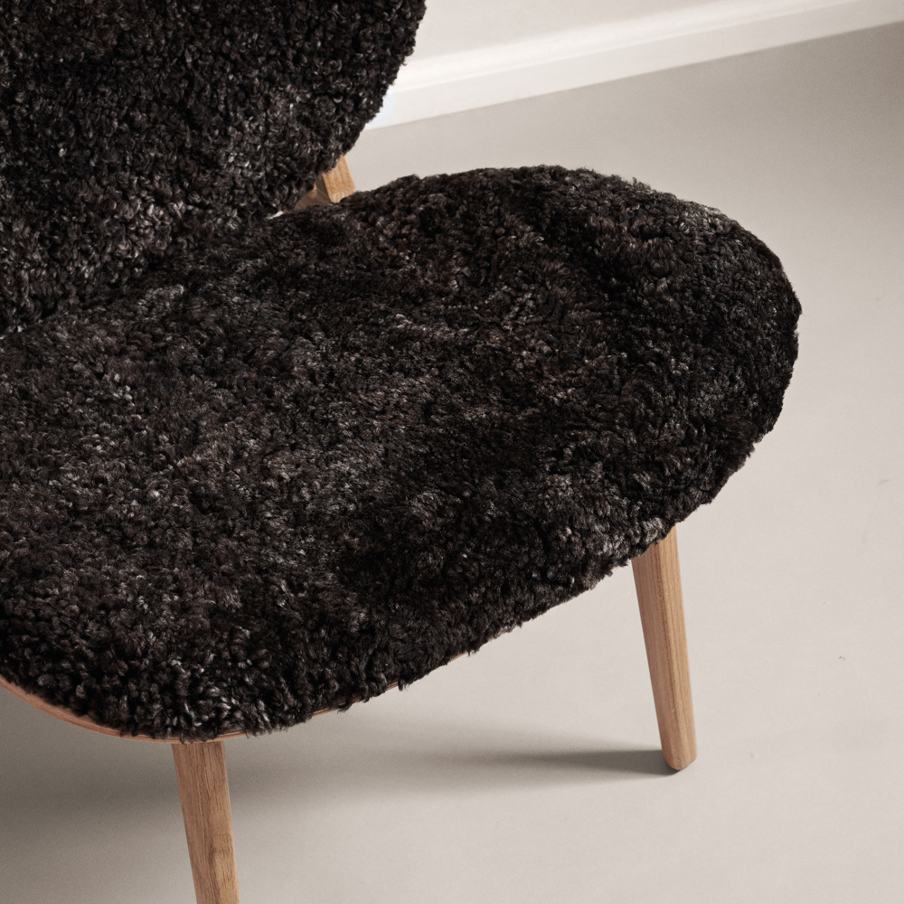 Elephant Lounge Chair - Off-White, Graphite or Brown Sheepskin