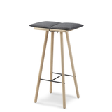 Georg Bar Stool in Natural or Black Oak