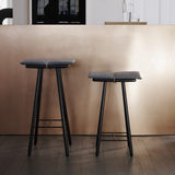 Georg Counter Stool in Natural or Black Oak