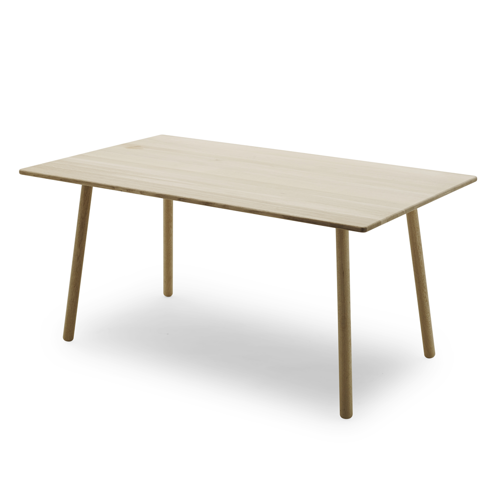 Georg Dining Table in Natural or Black Oak
