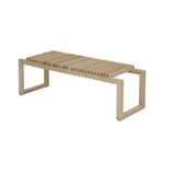 Cutter Bench in Natural or Black Oak, or Teak
